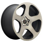 Колесный диск Vissol F-915 8.5x19/5x108 D63.3 ET35 black and machined with dark tint